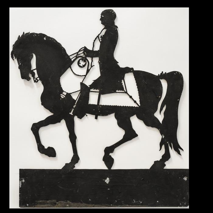 Crédits image : Napoléon à cheval, plaque de zinc, collection musées de Châtellerault