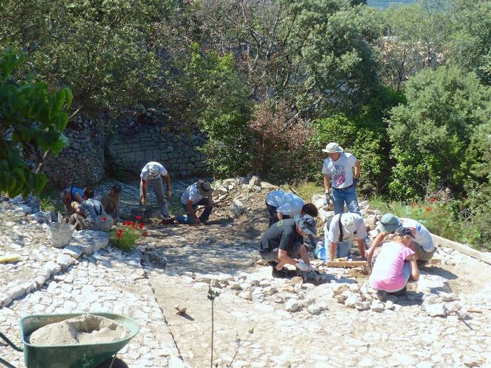 Journées du patrimoine 2018 - RESTAURATION de la CALADE sous Gourdane