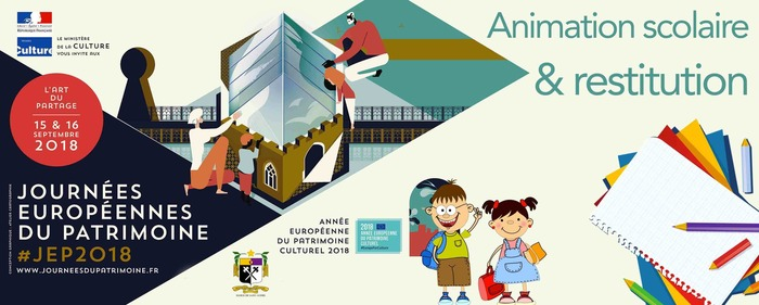 Journées du patrimoine 2018 - Restitution et présentation de travaux des scolaires