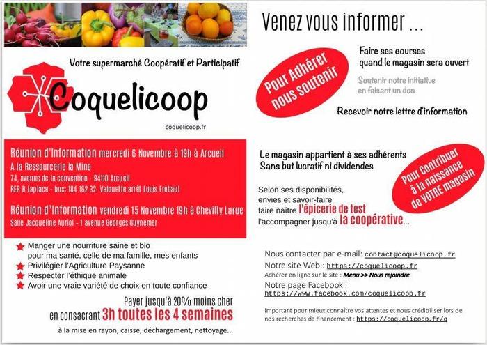 Réunion d'information sur le projet Coquelicoop à Chevilly-Larue