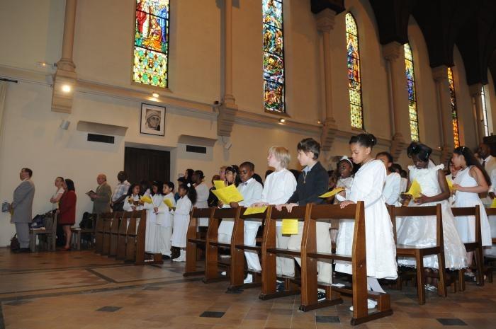 Réunion de formation pour les enfants et les jeunes qui se préparent aux sacrements de l'Eucharistie ou de la Confirmation