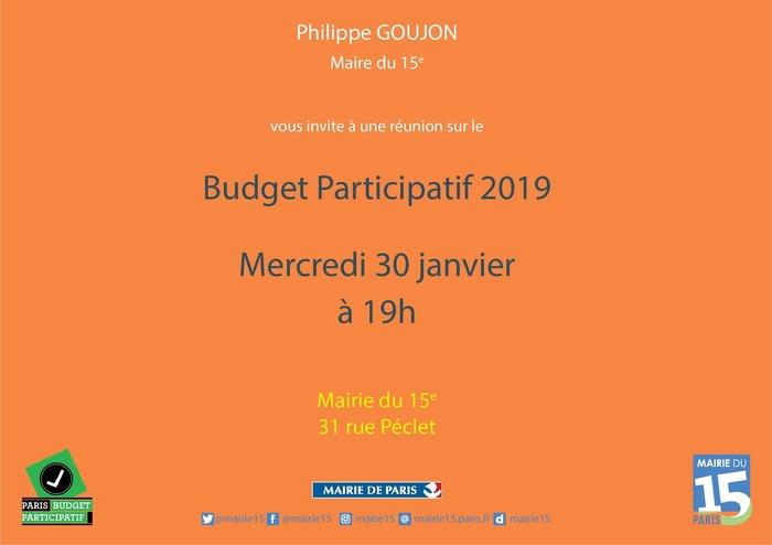 15e : réunion publique d'information sur le budget participatif