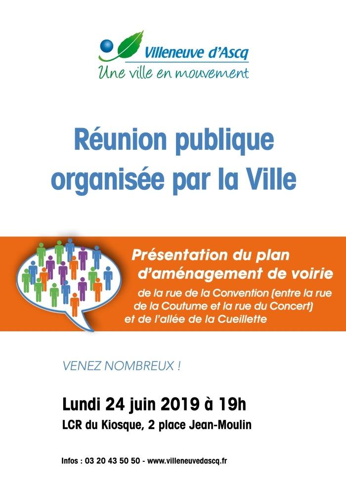 Réunion publique organisée par la Ville