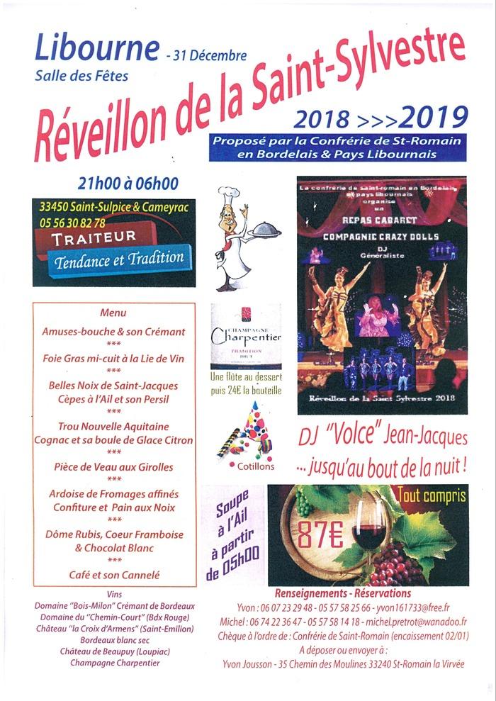 Réveillon de la Saint Sylvestre - Repas cabaret