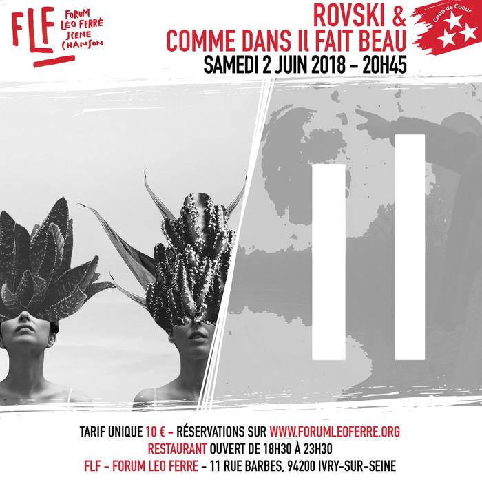 Rovski + Comme Dans Il Fait Beau au FLF - Forum Léo Ferré