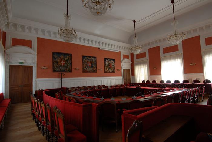 Journées du patrimoine 2018 - Visite commentée de la salle des délibérations du département de la Savoie.