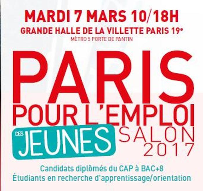 Salon 2017 paris pour l 39 emploi des jeunes for Salon de l emploi paris