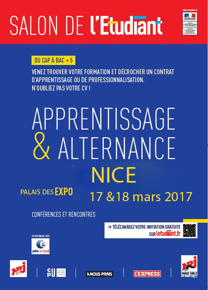 Commentez salon de l 39 etudiant apprentissage alternance for Salon de l etudiant nice