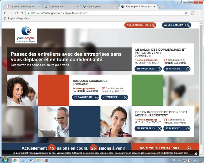 Salon en ligne p le emploi l 39 industrie en audomarois for Salon de l industrie 2017
