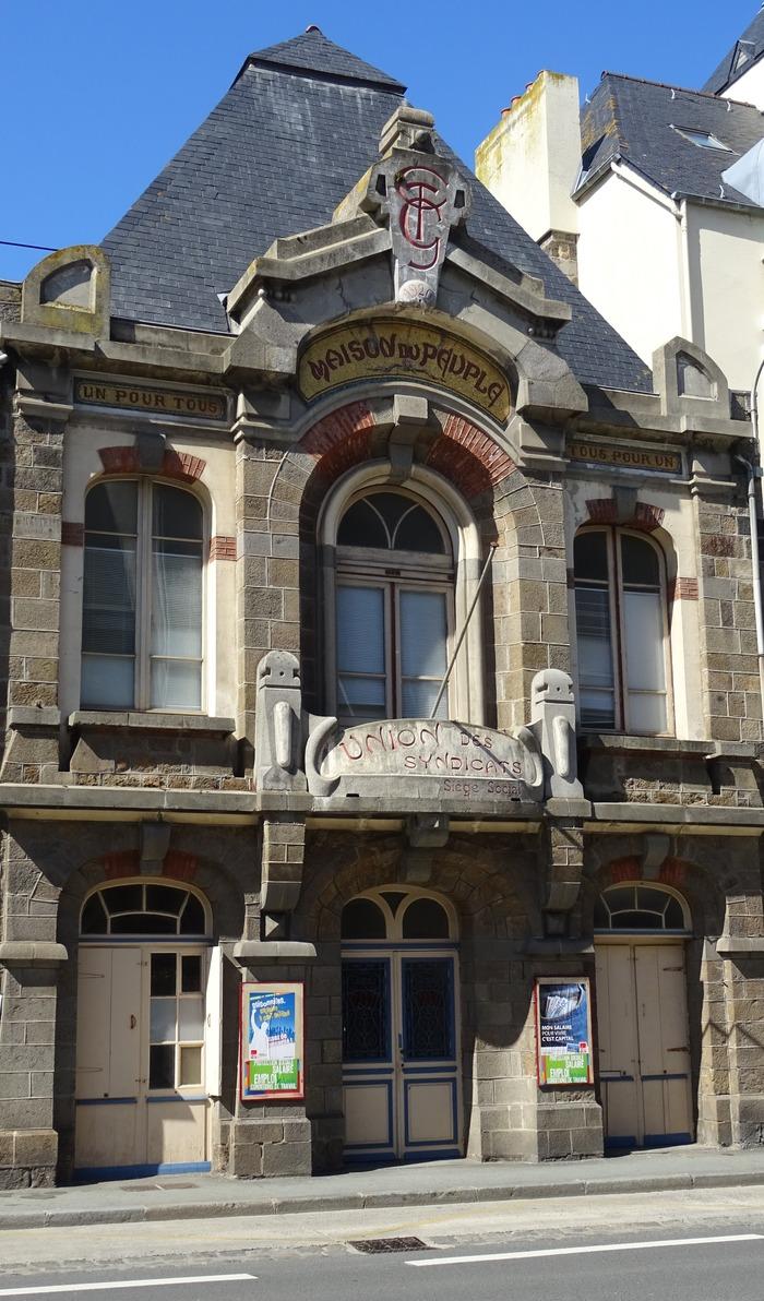 Journées du patrimoine 2017 - Sauvegarde et restauration Maison du Peuple . bâtiment inscrit au répertoire supplémentaire des monuments historiques.historiques.