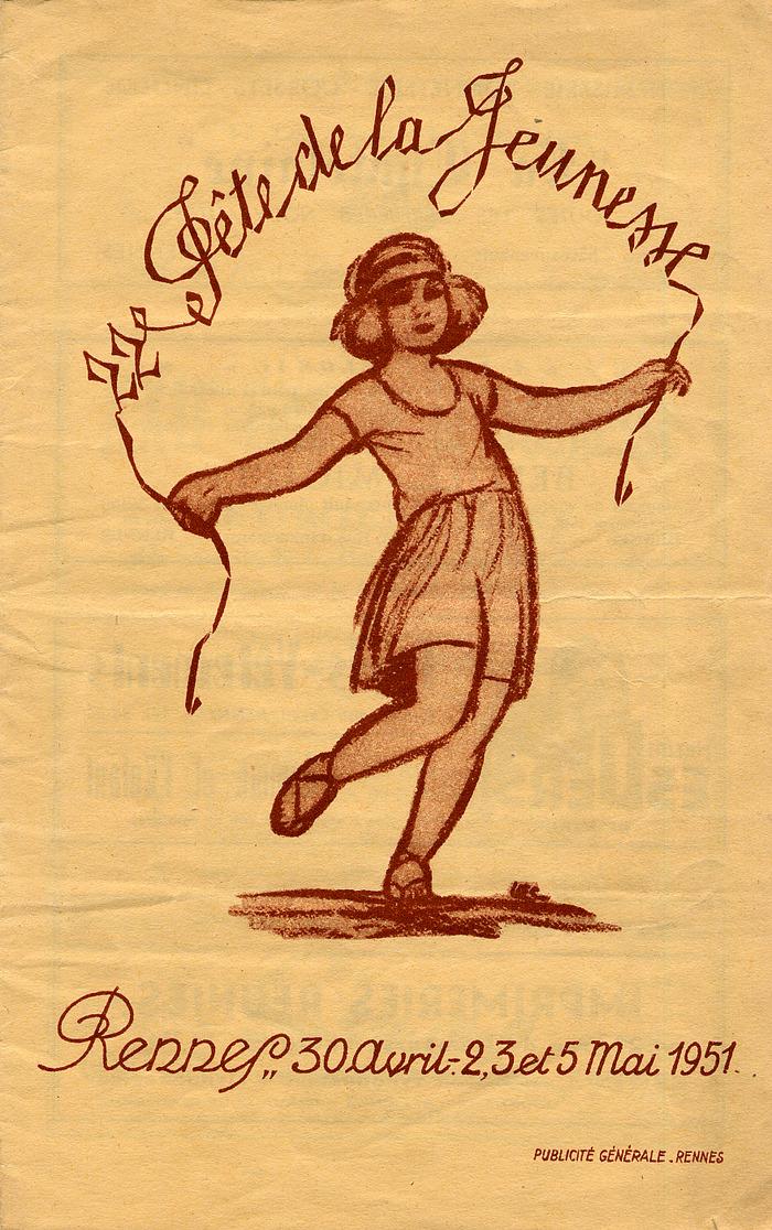 Crédits image : Fête de la jeunes de Rennes, 1951. Archives de Rennes