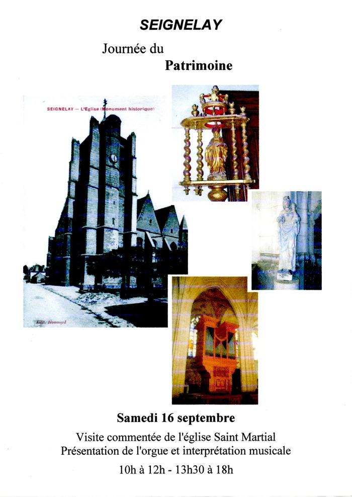 Journées du patrimoine 2017 - Visite commentée de l'église Saint-Martial