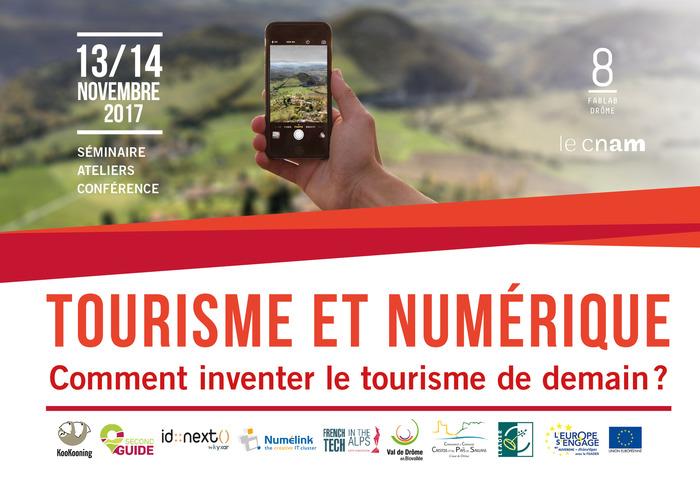 Séminaire tourisme et numérique, les 13 & 14 novembre 2017 au 8 Fablab Drôme.