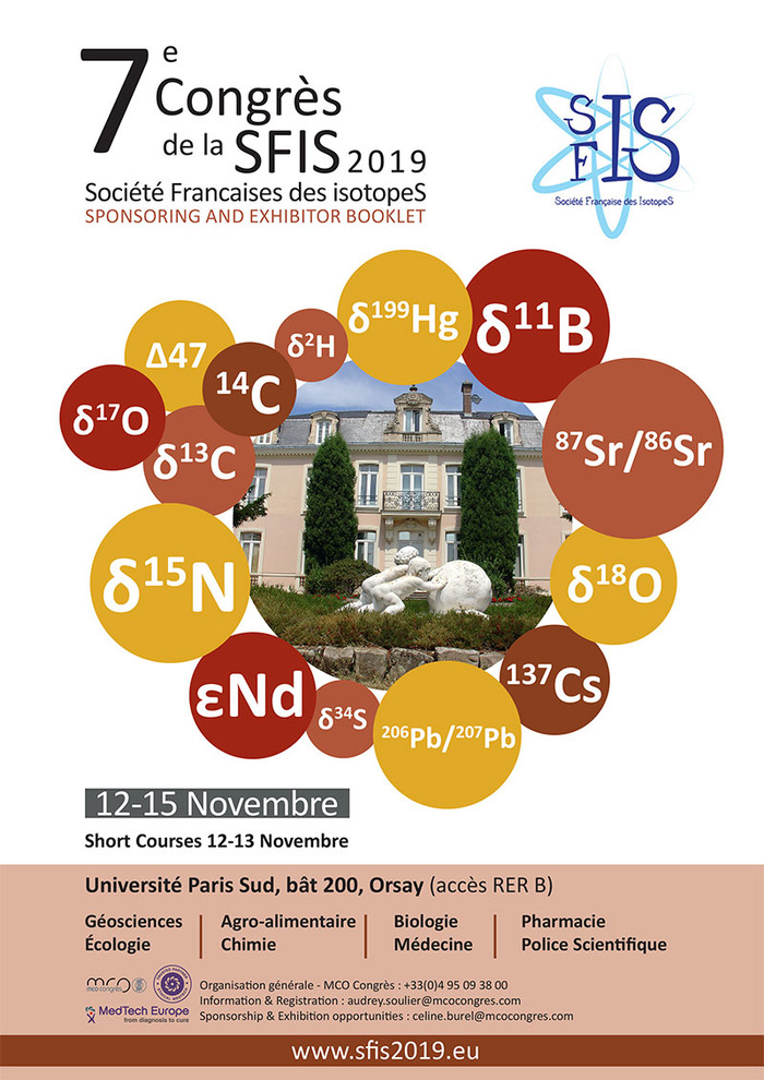 SFIS2019 – 7ème congrès de la Société Française des IsotopeS