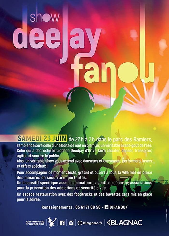 Show Deejay Fanou pour fêter l'été - Samedi 23 juin