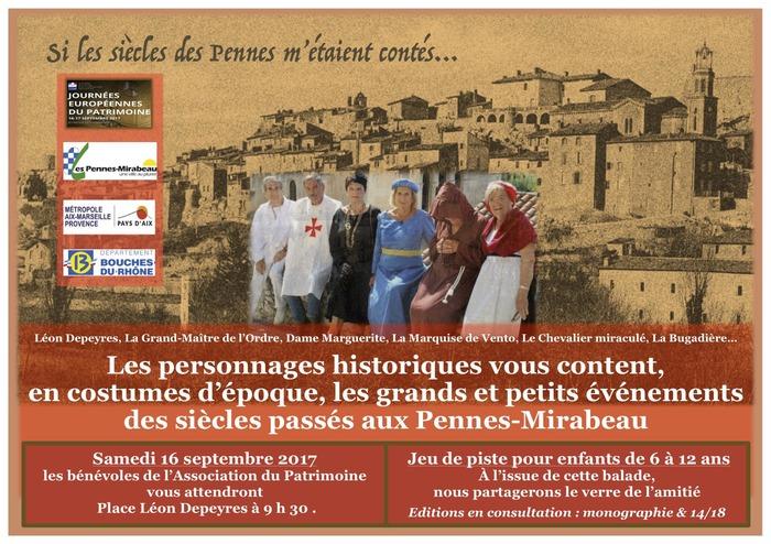 Journées du patrimoine 2017 - Si les siècles des Pennes m'étaient contés