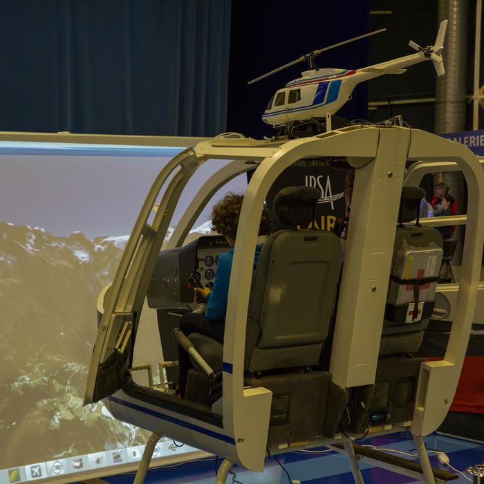 Journées du patrimoine 2018 - Simulateur d'hélicoptère Bell 206