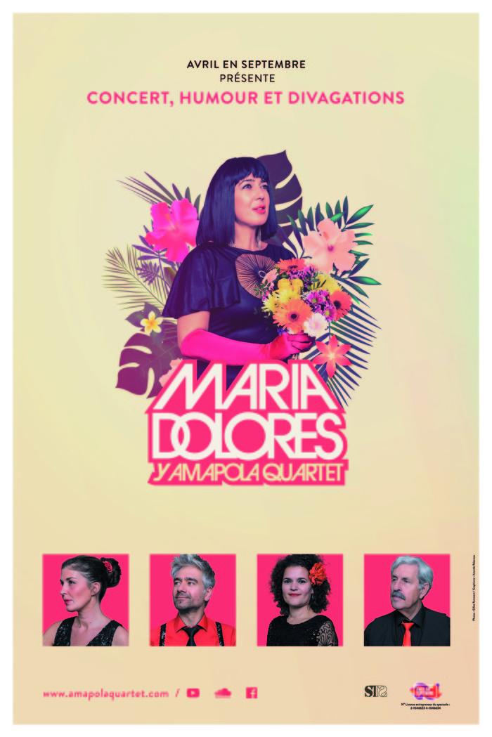 Journées du patrimoine 2018 - Soirée Cabaret avec Maria Dolores y Amapola Quartet à Longjumeau dans le cadre d'Encore les beaux jours, festival des arts de la rue