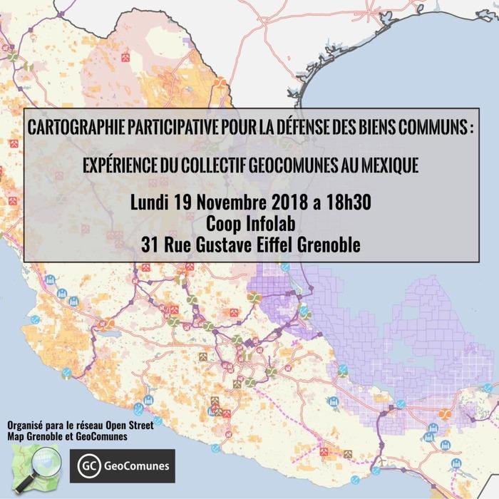Soirée cartographie : GeoComunes au Mexique