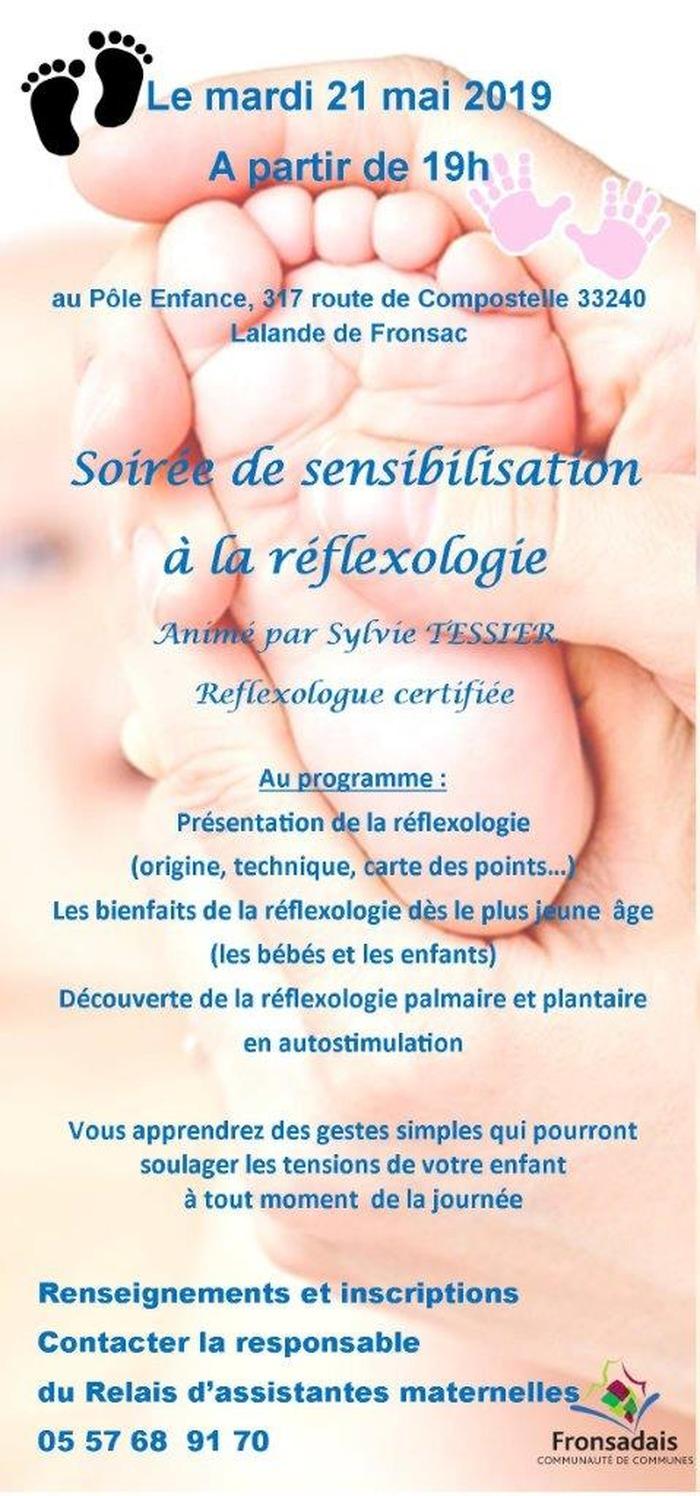 soirée de sensibilisation à la réflexologie
