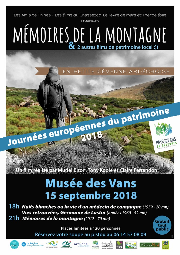 Journées du patrimoine 2018 - Soirée Projection au Musée des Vans
