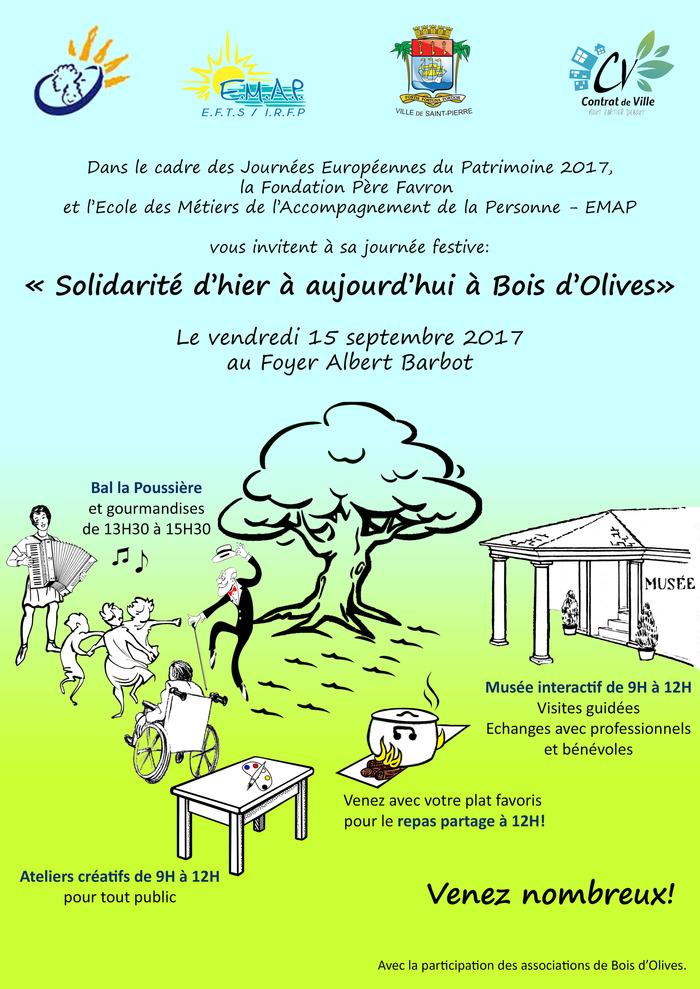 Journées du patrimoine 2017 - Solidarité d'hier à aujourd'hui à Bois d'Olives