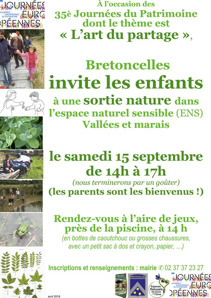 Journées du patrimoine 2018 - Sortie nature pour les enfants dans l'espace naturel sensible vallées et marais