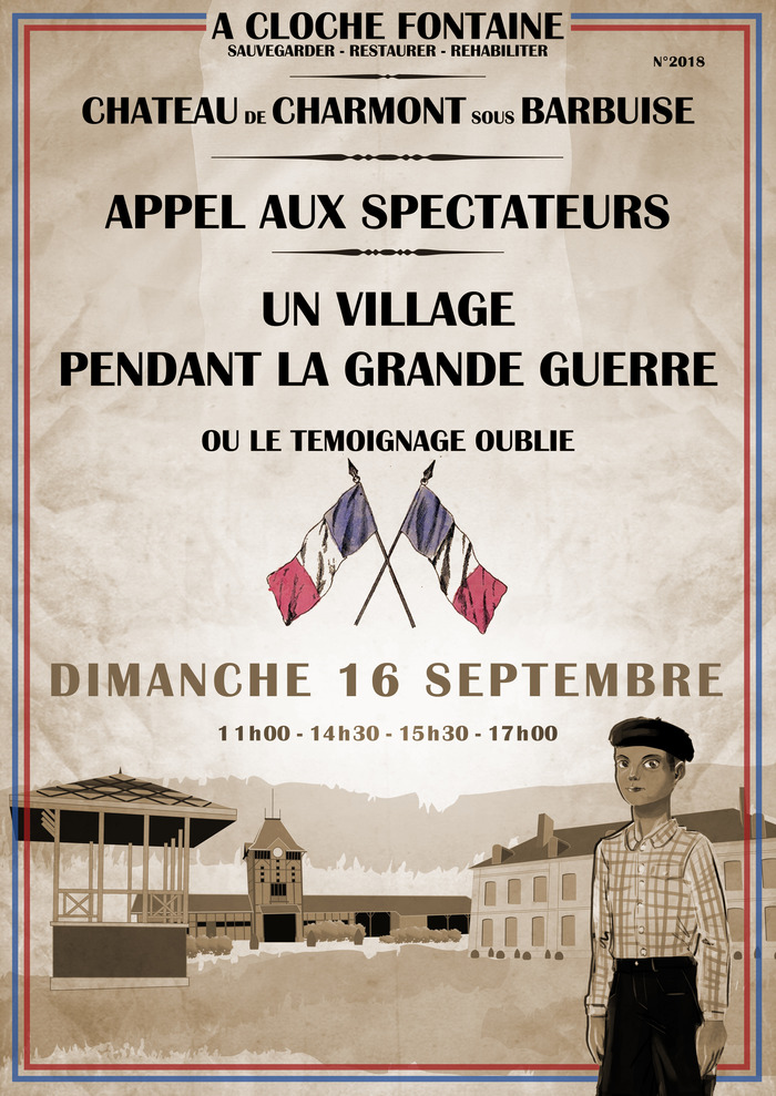 Journées du patrimoine 2018 - Spectacle au Château de Charmont :