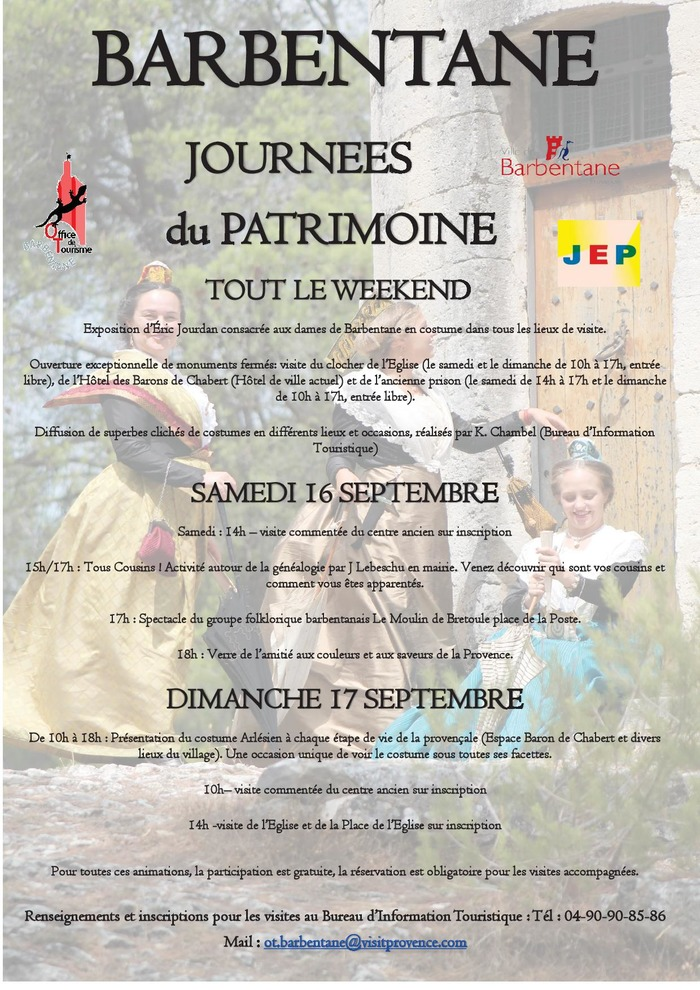 Journées du patrimoine 2017 - Spectacle du groupe folklorique barbentanais Le Moulin de Bretoule