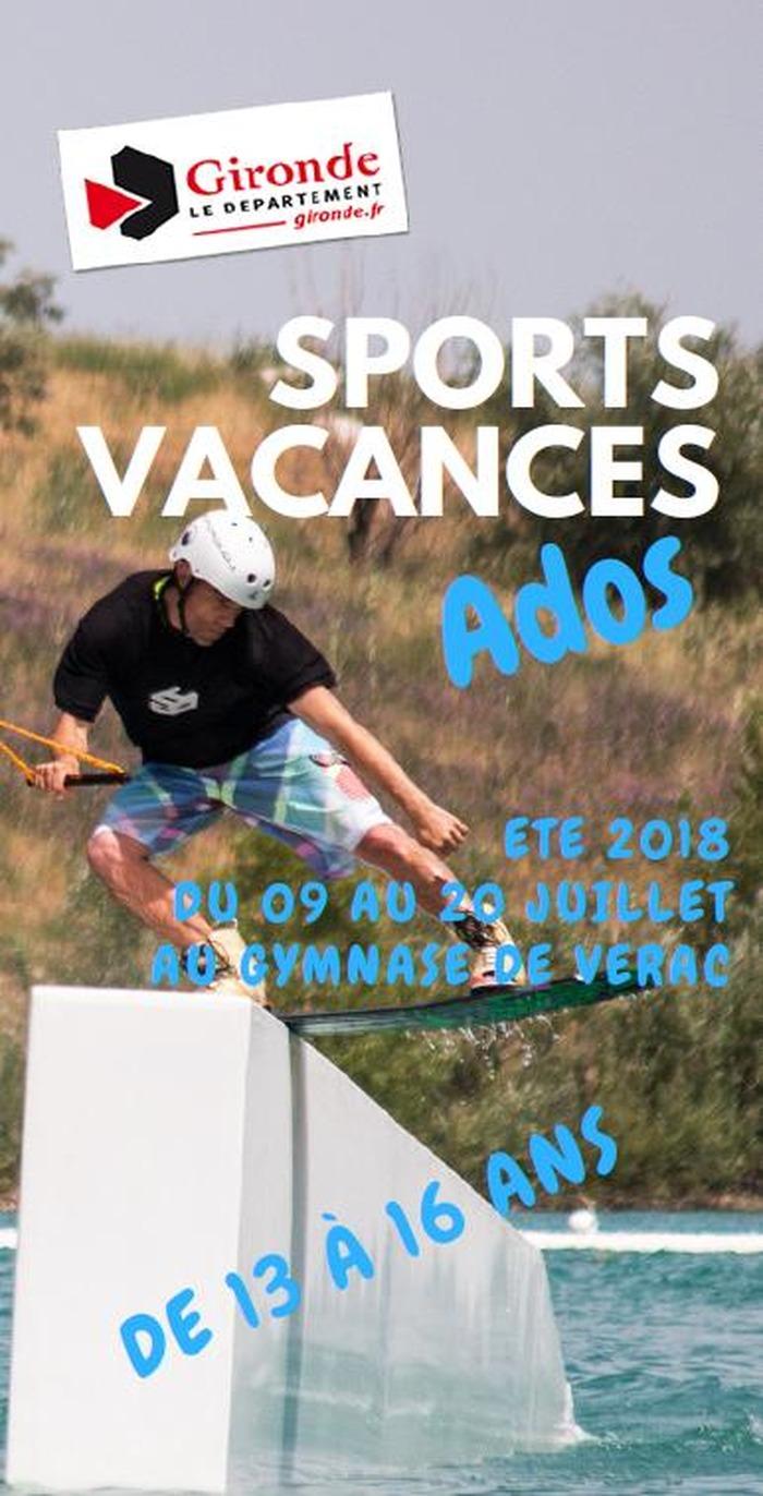 sport vacances ado - 9 au 20 juillet