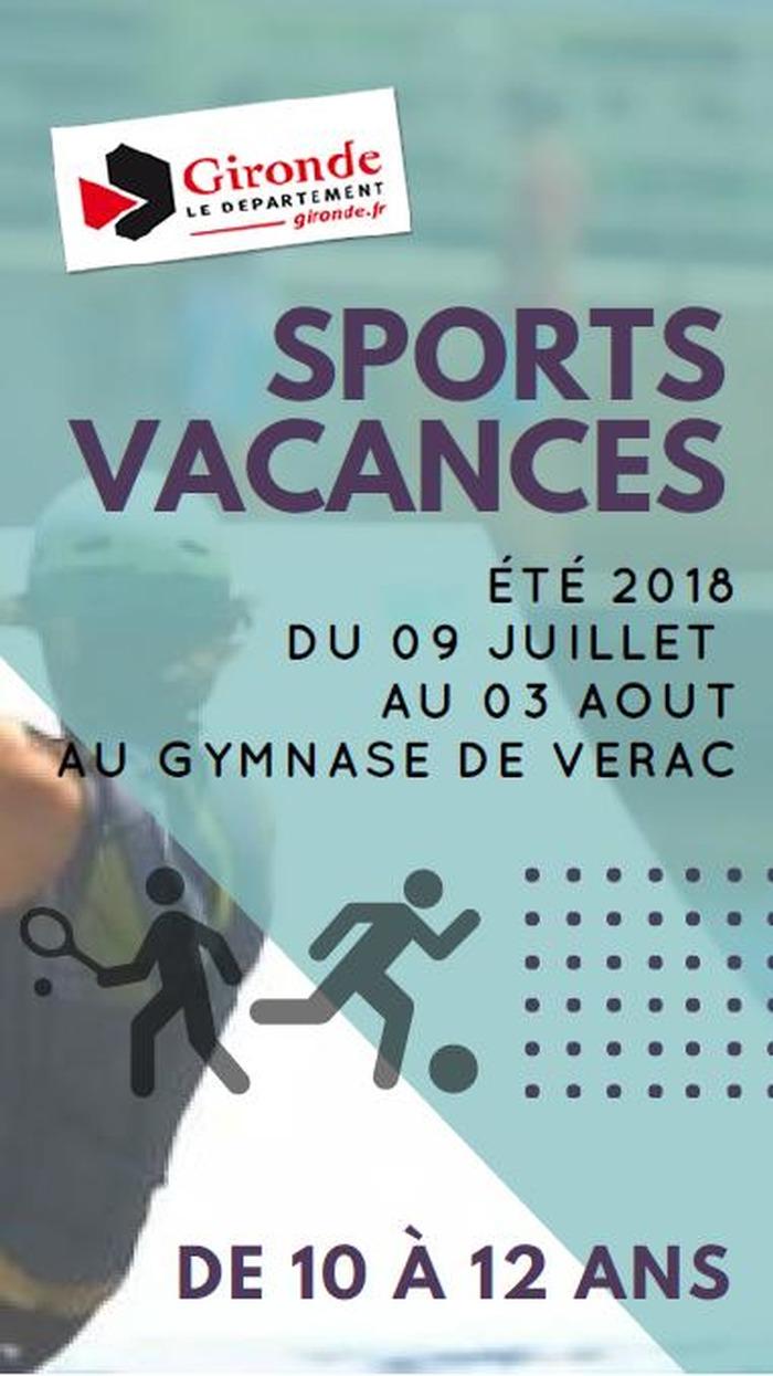 sport vacances été 2018 - 9 juillet au 3 août