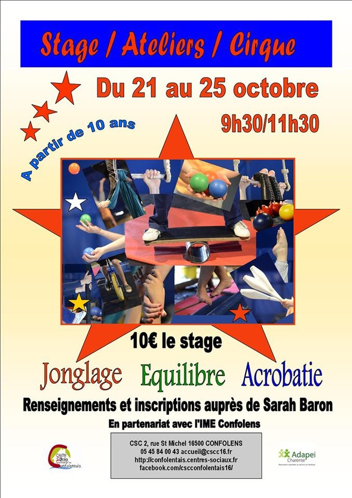 Stage Ateliers Cirque