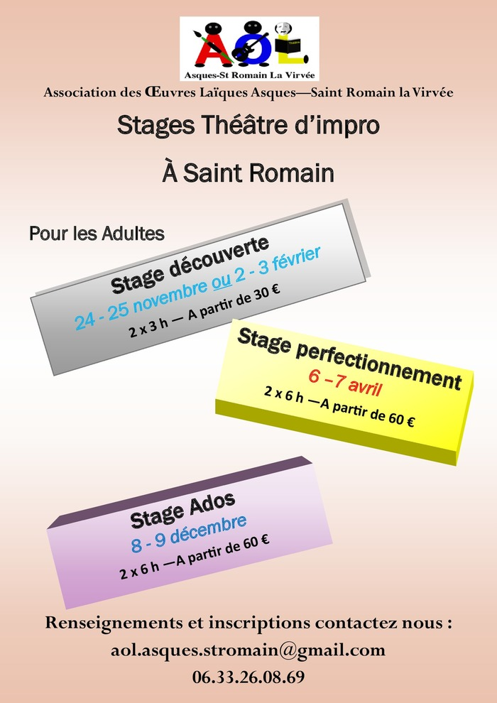 Stage d'improvisation