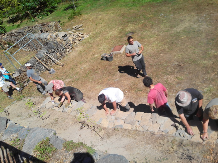 Journées du patrimoine 2018 - Stage d'initiation à la restauration d'un mur en pierre sèche