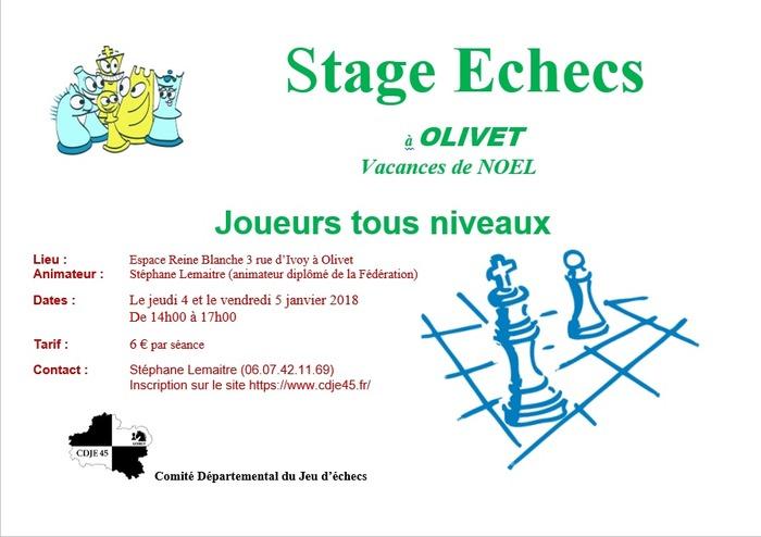 Stage échecs