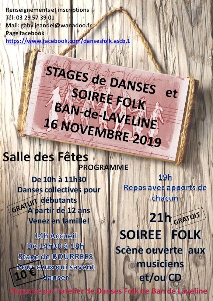 Stages de danses et Soirée Folk