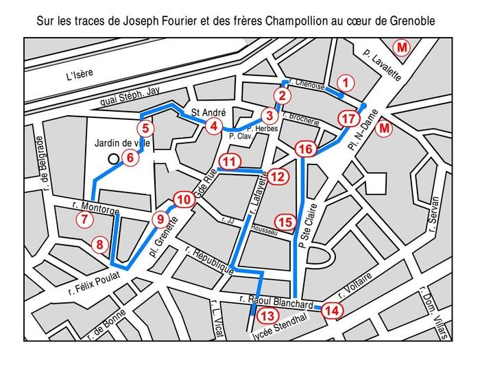 Journées du patrimoine 2018 - Circuit «Sur les traces de Joseph Fourier et des frères Champollion» au coeur de Grenoble.