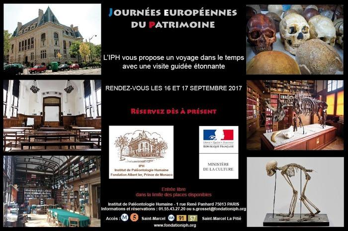 Journées du patrimoine 2017 - Sur les traces de notre passé