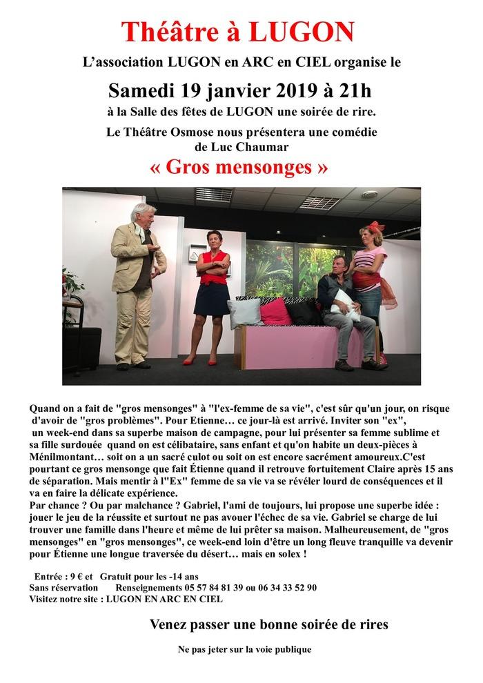 Théâtre à Lugon - Le théâtre Osmose présentera une comédie de Luc Chaumar