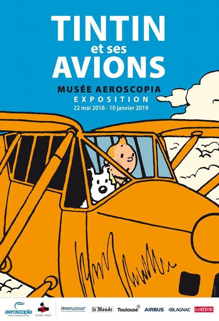 Tintin et ses avions au musée Aeroscopia - Du 22 mai au 10 janvier