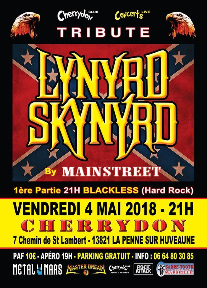 061f72d73218 Tribute Lynyrd Skynyrd + Blackless (Reprises Hard Rock)