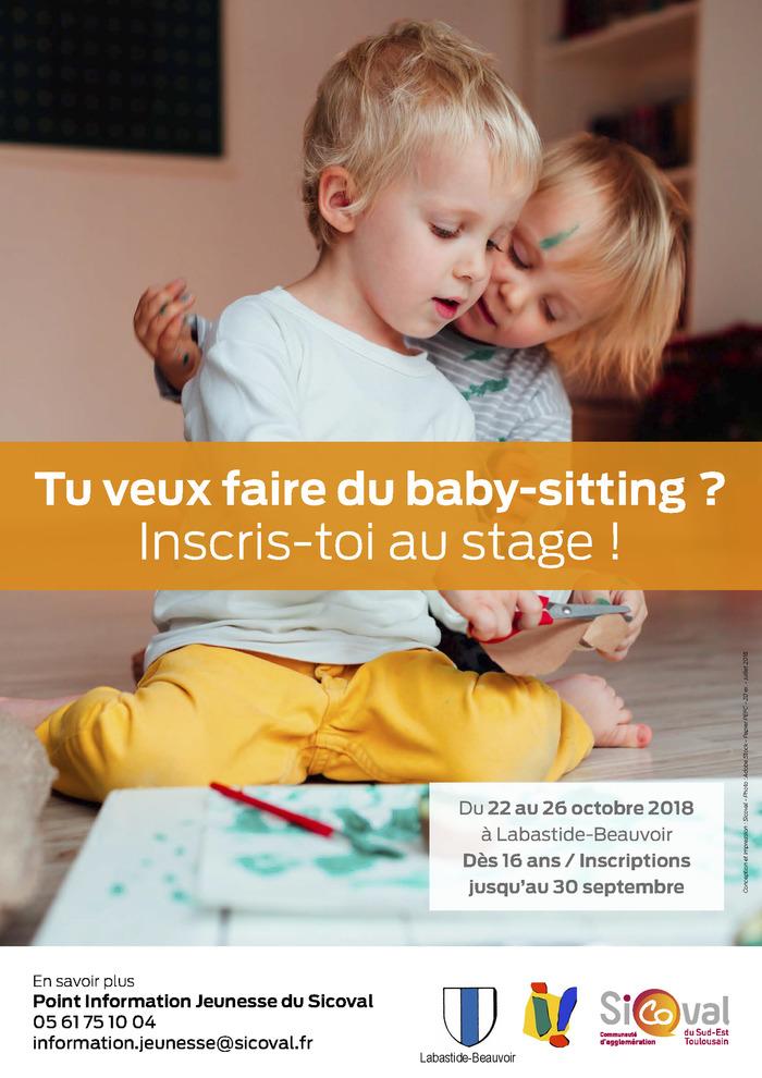 Tu veux faire du baby-sitting ? Inscris toi au stage !