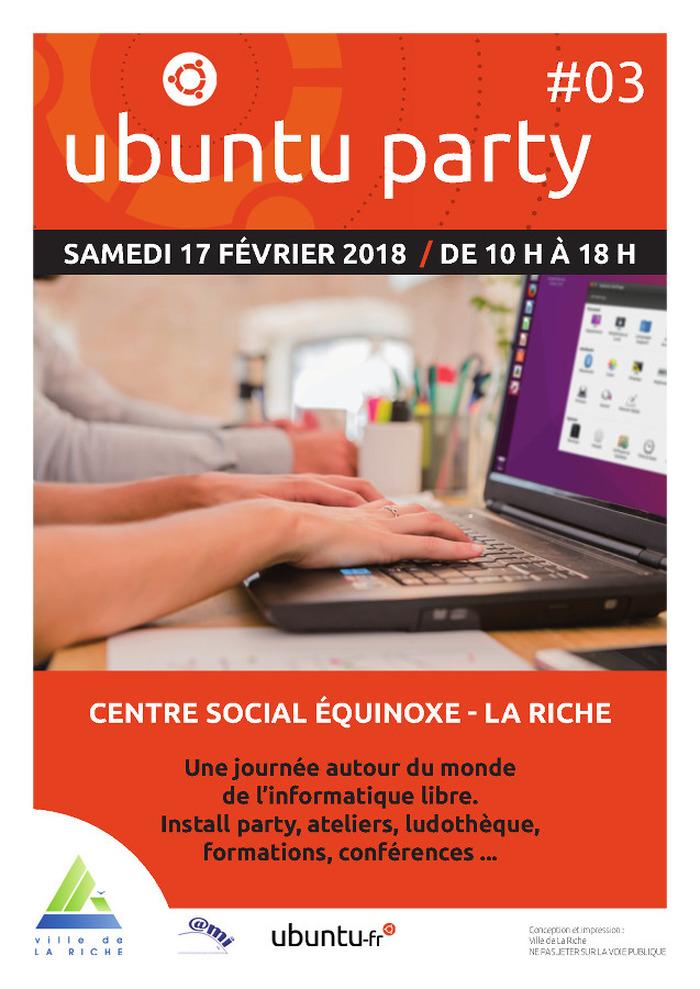 Ubuntu Party #3 La Riche - Journée autour de l'informatique libre