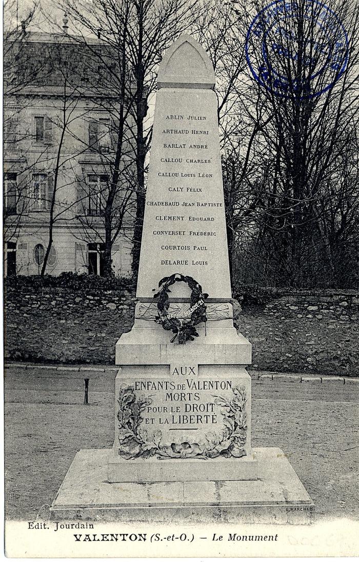 Crédits image : Archives municipales de Valenton