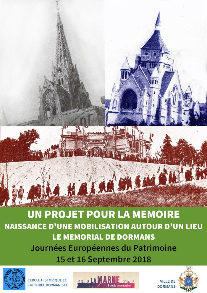Journées du patrimoine 2018 - Un projet pour la Mémoire : le Mémorial de Dormans