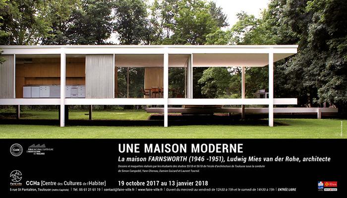 UNE MAISON MODERNE, Ludwig Mies van der Rohe, architecte