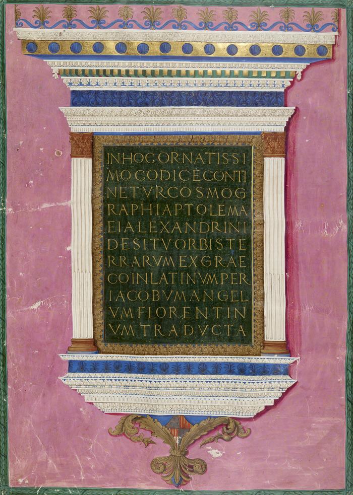 Crédits image : Ptolémée. Cosmographie. BnF, Manuscrits Latin 4802. Copyright BnF