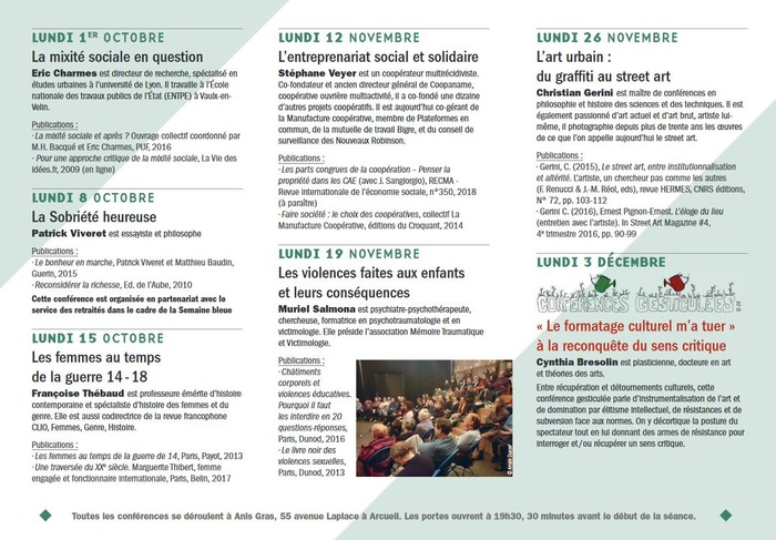 Université Populaire d'Arcueil : L'art urbain : du Graffiti au street art