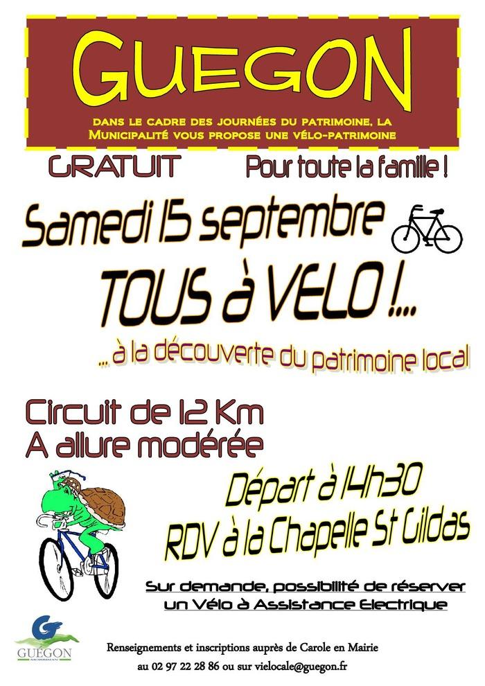 Journées du patrimoine 2018 - Vélo-patrimoine : Tous à vélo à la découverte du patrimoine local