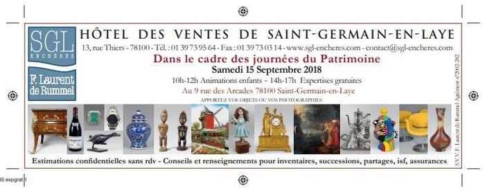 Journées du patrimoine 2018 - Venez faire expertiser vos objets ou photographies à l'Hôtel des ventes